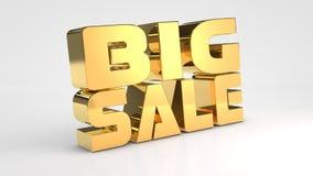 Testo dell'oro 3d di vendita di offerta Immagini Stock