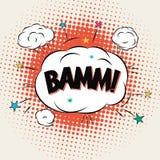 Testo della bolla del libro di fumetti di Bamm Immagine Stock