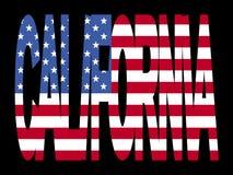 Testo della California con la bandierina royalty illustrazione gratis