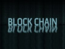 Testo della catena di blocco scritto nel formato binario di zero-one illustrazione vettoriale
