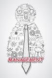 Testo della gestione, con l'idea creativa di piano di strategia di successo di affari dei grafici e dei grafici del disegno, te d Fotografia Stock Libera da Diritti
