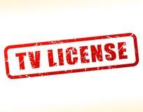 Testo della licenza della TV attenuato Fotografia Stock Libera da Diritti