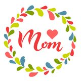 Testo della mamma di amore in corona Fotografia Stock Libera da Diritti