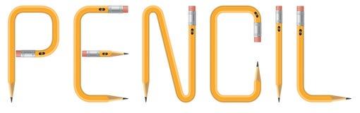 Testo della matita Immagine Stock Libera da Diritti