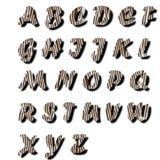 testo della pelliccia di alfabeto Fotografia Stock Libera da Diritti