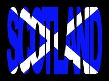 Testo della Scozia con la bandierina illustrazione di stock