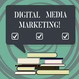 Testo della scrittura che scrive introduzione sul mercato di Digital Media Concetto che significa uso di numeroso mucchio irregol illustrazione vettoriale