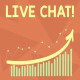Testo della scrittura che scrive Live Chat Conversazione in tempo reale di media di significato di concetto online comunicare com illustrazione vettoriale