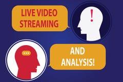 Testo della scrittura che scrive Live Video Streaming And Analysis Vendita di significato di concetto che annuncia il messaggero  illustrazione di stock