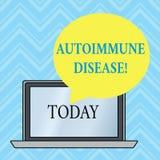 Testo della scrittura che scrive malattia autoimmune I tessuti del corpo di significato di concetto sono attaccati dal suo propri illustrazione di stock