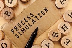 Testo della scrittura che scrive simulazione trattata Il concetto che significa la rappresentazione tecnica ha fabbricato lo stud fotografie stock