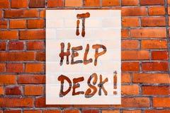 Testo della scrittura gli che scrive il servizio d'assistenza Mostra d'aiuto online di assistenza di sostegno di significato di c immagini stock
