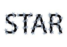 Testo della stella Immagine Stock