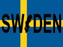 Testo della Svezia con il programma Fotografia Stock