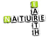 testo delle parole incrociate della natura della terra 3D Immagini Stock Libere da Diritti