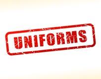 Testo delle uniformi attenuato Immagini Stock