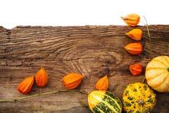 Testo dello spazio del bordo di autunno dei regali vecchio Immagine Stock Libera da Diritti