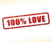 Testo di amore attenuato su fondo bianco Fotografia Stock Libera da Diritti