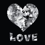 Testo di amore e del cuore Immagine Stock Libera da Diritti