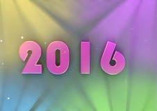 Testo di anno 2016 fotografie stock libere da diritti