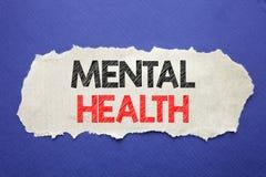 Testo di annuncio della scrittura che mostra la salute mentale Concetto di affari per disordine di malattia di ansia scritto su c immagine stock