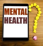 Testo di annuncio della scrittura che mostra la salute mentale Concetto di affari per disordine di malattia di ansia scritto sull fotografie stock libere da diritti