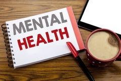 Testo di annuncio della scrittura che mostra la salute mentale Concetto di affari per disordine di malattia di ansia scritto sull fotografia stock libera da diritti