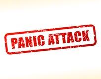 Testo di attacco di panico attenuato Fotografia Stock