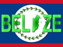 Testo di Belize con il programma Immagini Stock Libere da Diritti