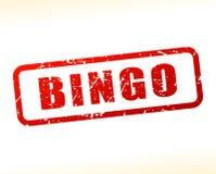 Testo di bingo attenuato su fondo bianco Immagine Stock Libera da Diritti