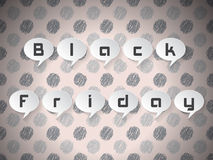 Testo di Black Friday sui fumetti Fotografia Stock Libera da Diritti