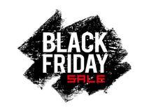 Testo di Black Friday sul fondo di lerciume Fotografia Stock