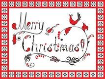 Testo di Buon Natale Immagine Stock Libera da Diritti