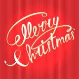 Testo di Buon Natale Immagini Stock