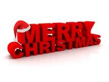 Testo di Buon Natale Fotografie Stock Libere da Diritti