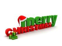 Testo di Buon Natale Fotografia Stock Libera da Diritti