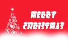 Testo di Buon Natale scritto su fondo rosso Fotografie Stock