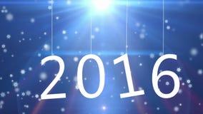 2016 testo di carta che appende sulle corde, fondo di festa illustrazione vettoriale