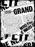 Testo di carta di notizie Immagini Stock
