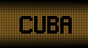 Testo di Cuba sull'illustrazione dei segnali di pericolo di uragano royalty illustrazione gratis