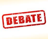 Testo di dibattito attenuato su fondo bianco Immagini Stock Libere da Diritti