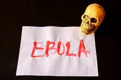 Testo di ebola di parola Fotografia Stock