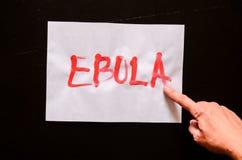 Testo di ebola di parola Fotografia Stock Libera da Diritti