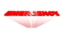 Testo di emergenza Fotografia Stock