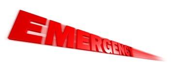 Testo di emergenza Immagini Stock