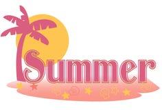 Testo di estate Immagini Stock