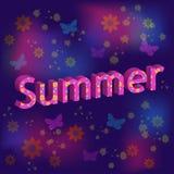 Testo di estate Fotografia Stock Libera da Diritti