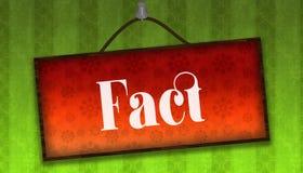 Testo di FATTO sull'attaccatura del bordo arancio Fondo a strisce verde della carta da parati Fotografia Stock