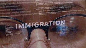 Testo di immigrazione su fondo di sviluppatore royalty illustrazione gratis