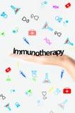 Testo di immunoterapia Fotografie Stock Libere da Diritti